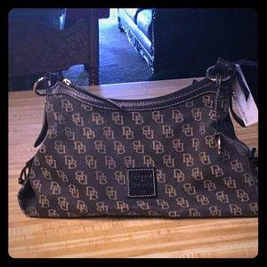 Dooney & Bourke Jacquard & Leather Shoulder Bag